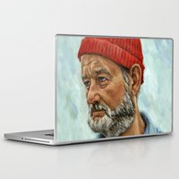 murray Laptop & iPad Skins featuring Bill Murray / Steve Zissou by Heather Buchanan