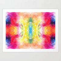 Watercolour Mosaic Art Print