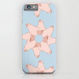 Sea Lion Round Illustration Pattern iPhone Case