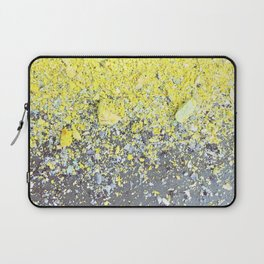 Chalk Dust Confetti - Yellow Laptop Sleeve