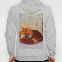 Red fox small nap | Renard roux petite sieste Hoody