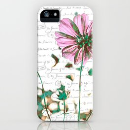 The Flower of Life - Free Hand Calligraphy! iPhone Case