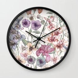 Magical Floral  Wall Clock