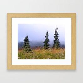 High Upon A Mountain Framed Art Print