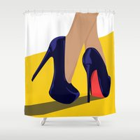 shoes Shower Curtains featuring shoes by Kozza