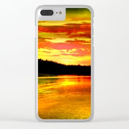 Youthful Yellow Clear iPhone Case