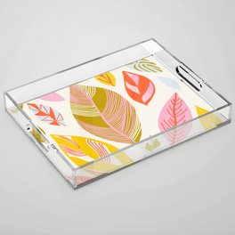 Timberlee, modern autumn leaves Acrylic Tray