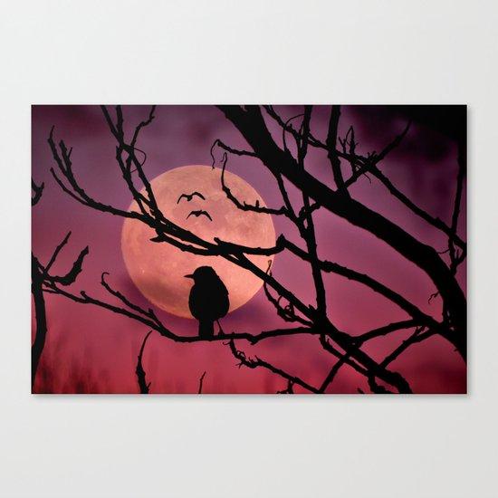 Moonlit dusk Canvas Print