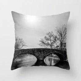 Clove Lakes Rock Bridge Throw Pillow