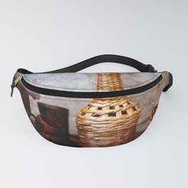 Wickered bottle, vintage lantern Fanny Pack