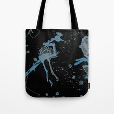Blue Bird Lizard Tote Bag