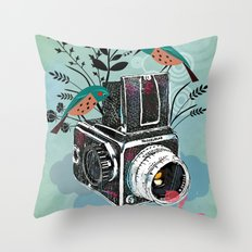 Vintage Camera Hasselblad Throw Pillow