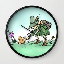 Snufkin and Squirrel Wall Clock