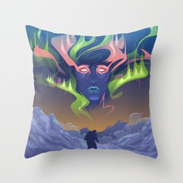 Frozen Landscape Throw Pillow