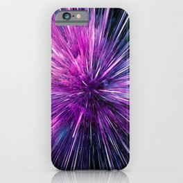 Supersonic --BigBang - Abstract Space Purple iPhone Case