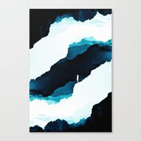 teal Canvas Prints featuring Teal Isolation by Stoian Hitrov - Sto