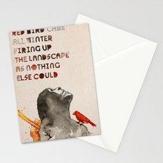 Red Bird Stationery Cards