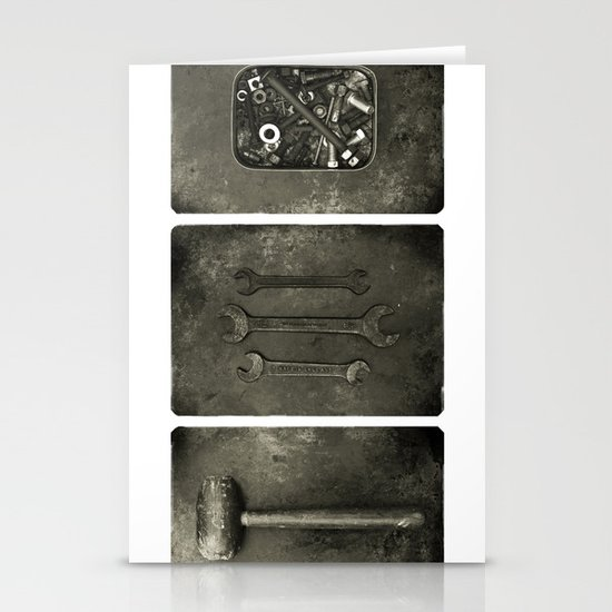 Dad used to make things (triptych one) Stationery Cards