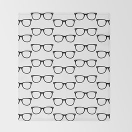 Black Funky Glasses Throw Blanket