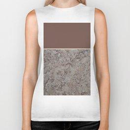 Brown Meets Brown Gray Concrete #1 #decor #art #society6 Biker Tank