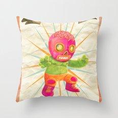 zombie ala lucha  Throw Pillow
