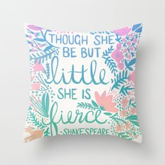 Little & Fierce – Lavender Mint Ombré Throw Pillow