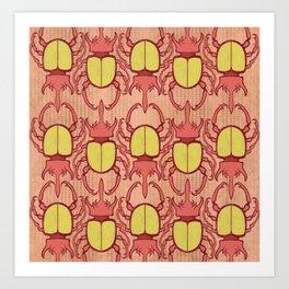 Red Beetles Art Print