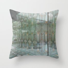 Wallpaper in a White Box Throw Pillow