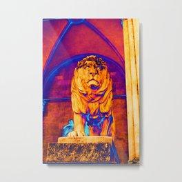 Lion - The Feldherrnhalle (Field Marshals' Hall) - Munich Metal Print
