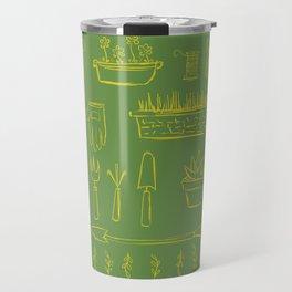 Gardening and Farming! - illustration pattern Travel Mug