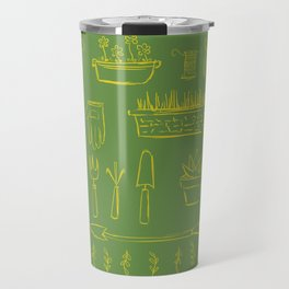 Gardening and Farming! - illustration pattern Travel Mug