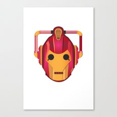 cyber iron man Canvas Print