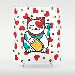 Maneki Neko Shower Curtain
