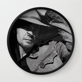 Raylan Givens Wall Clock