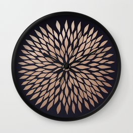 Rose Gold Flower Wall Clock