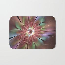 Abstract Fantasy Flower, Fractal Art Bath Mat