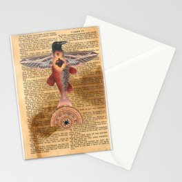 Sacred Heart Crow Stationery Cards
