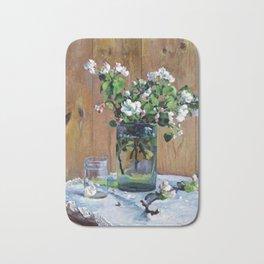 Apple Blossoms by Sergei Vinogradov - Vintage Painting Bath Mat