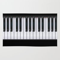 piano Area & Throw Rugs featuring Piano by rob art | illustration