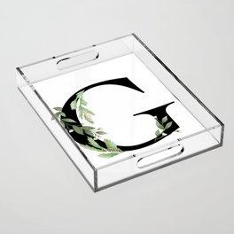 Botanical G Acrylic Tray