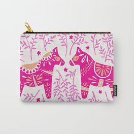 Swedish Dala Horses – Pink Palette Carry-All Pouch