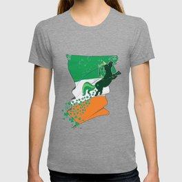 Unicorn Distressed Irish Flag St Patricks T-shirt