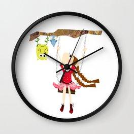 little girl swinging Wall Clock
