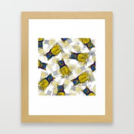 BAT CAT Pattern 1 Framed Art Print