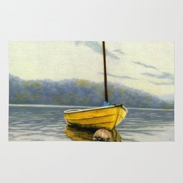 The Little Yellow Sailboat Rug