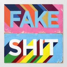 FAKE SHIT Canvas Print