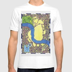 Tiny Underdog City Map Mens Fitted Tee MEDIUM White