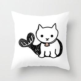 sea cat Throw Pillow