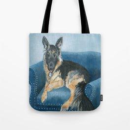 German Shepherd Angus Tote Bag
