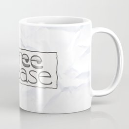 """Coffee please"" sign with sleepy eyes Coffee Mug"